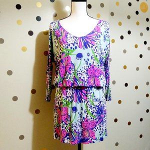LILLY PULITZER CARA DRESS IN THE GARDEN PRINT SZ S